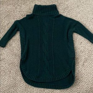 Cable knot turtle neck sweater